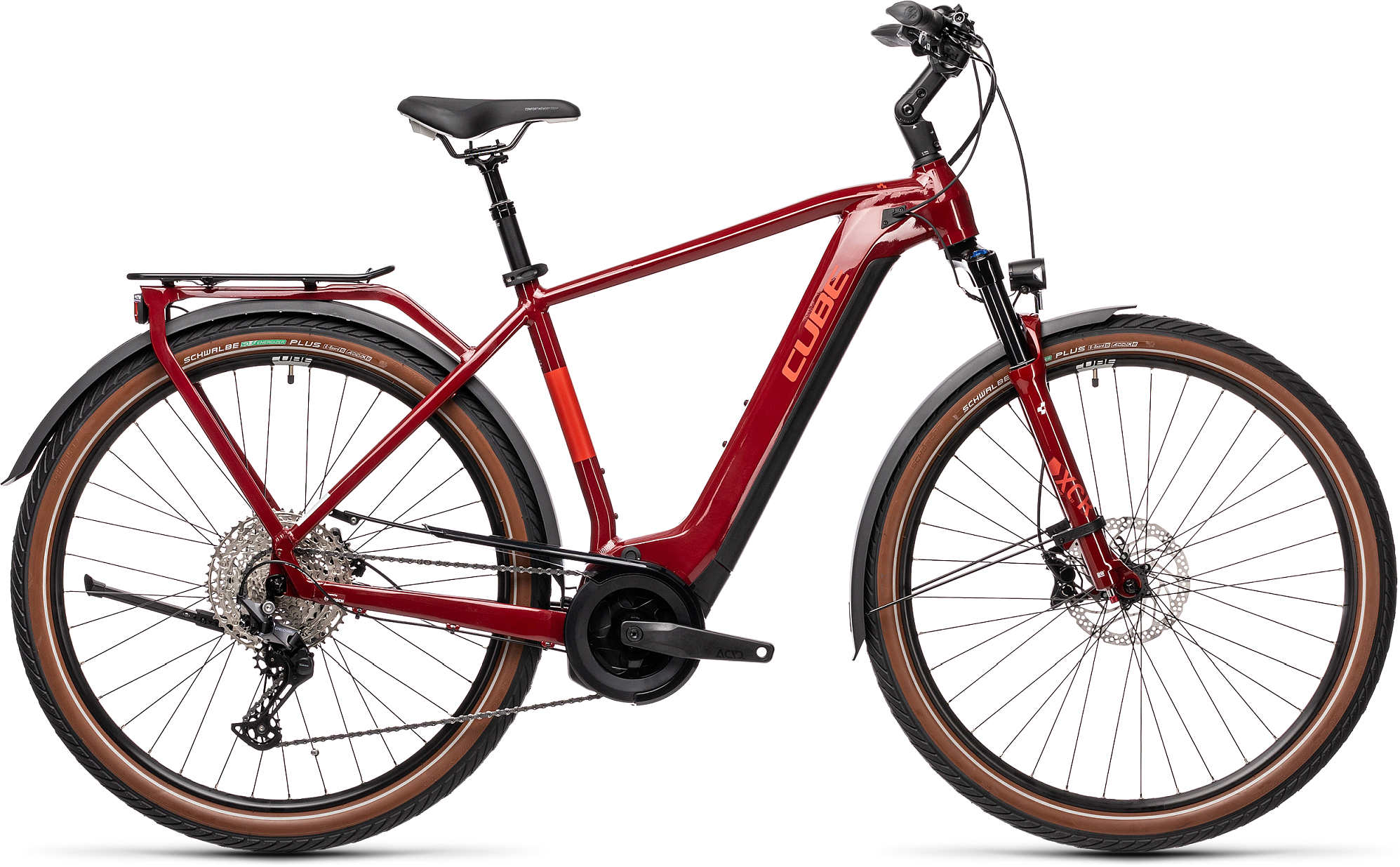 Cube TOURING HYBRID EXC 500 RED/GREY 2021 62 cm